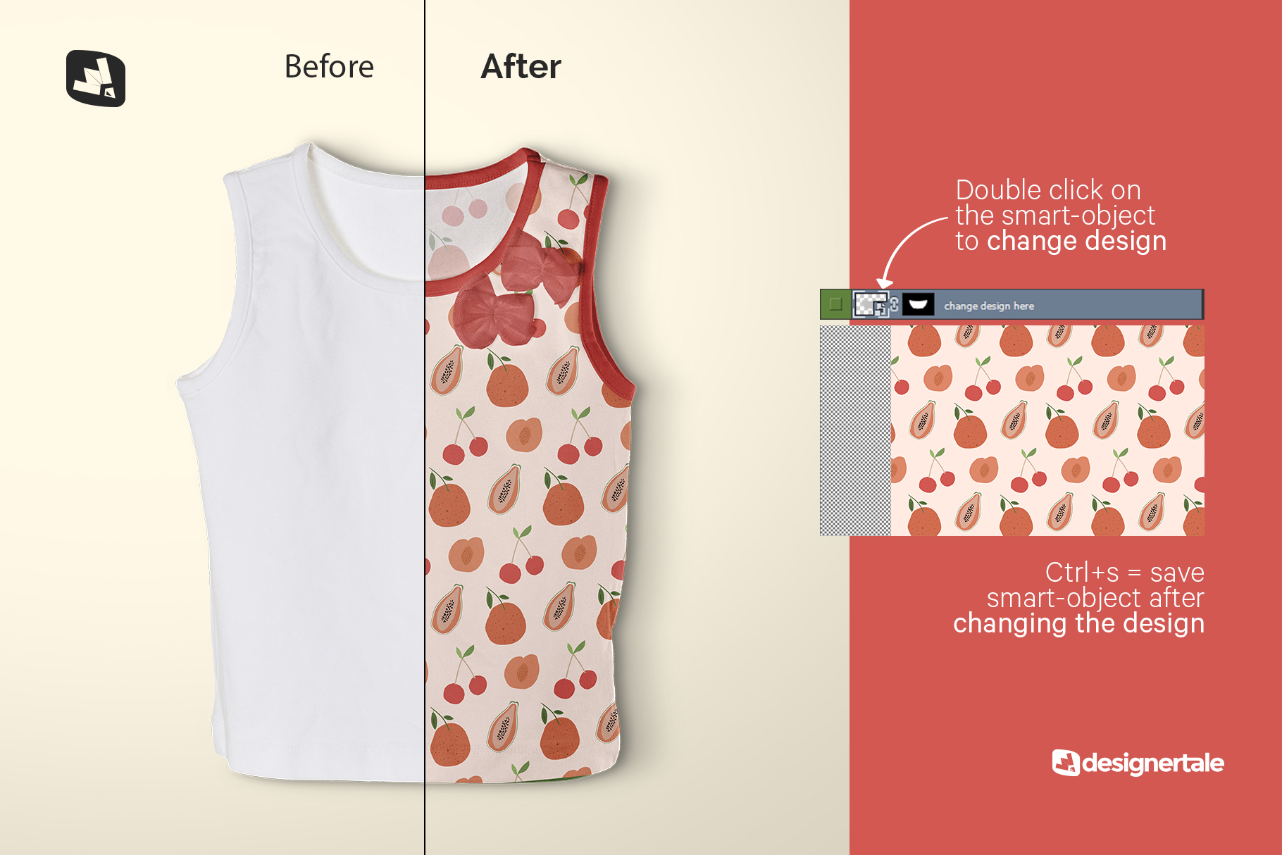 how to change design of the topview half sleeve girl top mockup