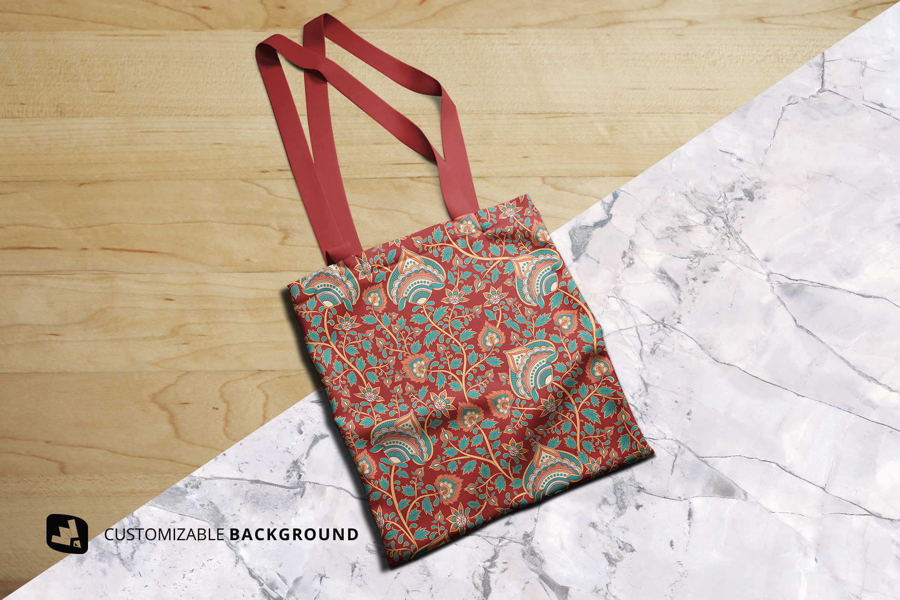 background options of the topview reusable cotton bag mockup