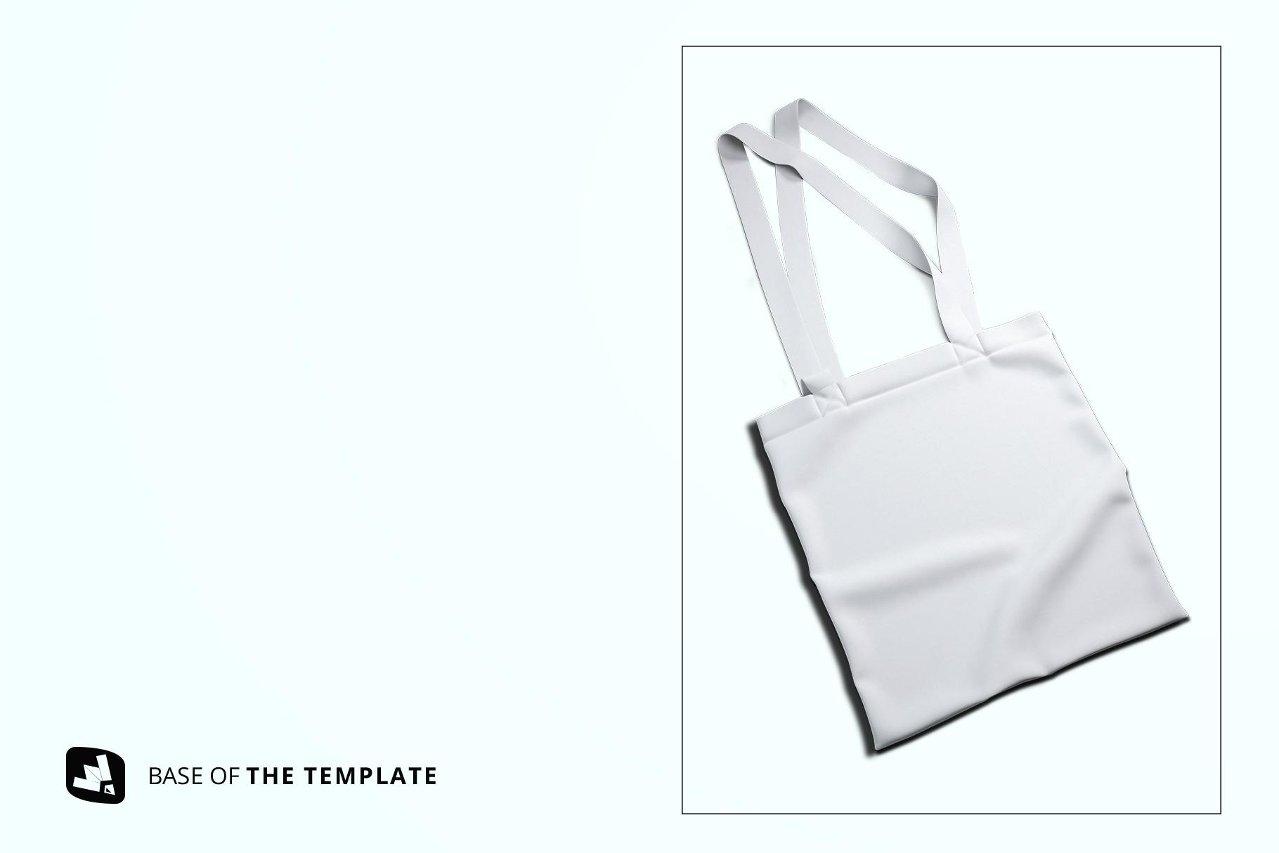 base image of the topview reusable cotton bag mockup