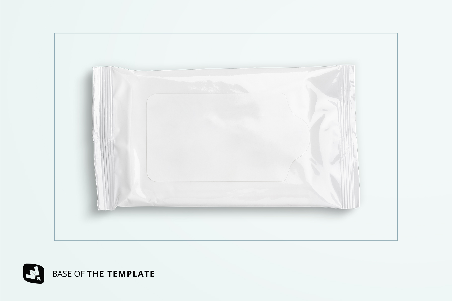 base image of the disposable wipes packaging mockup