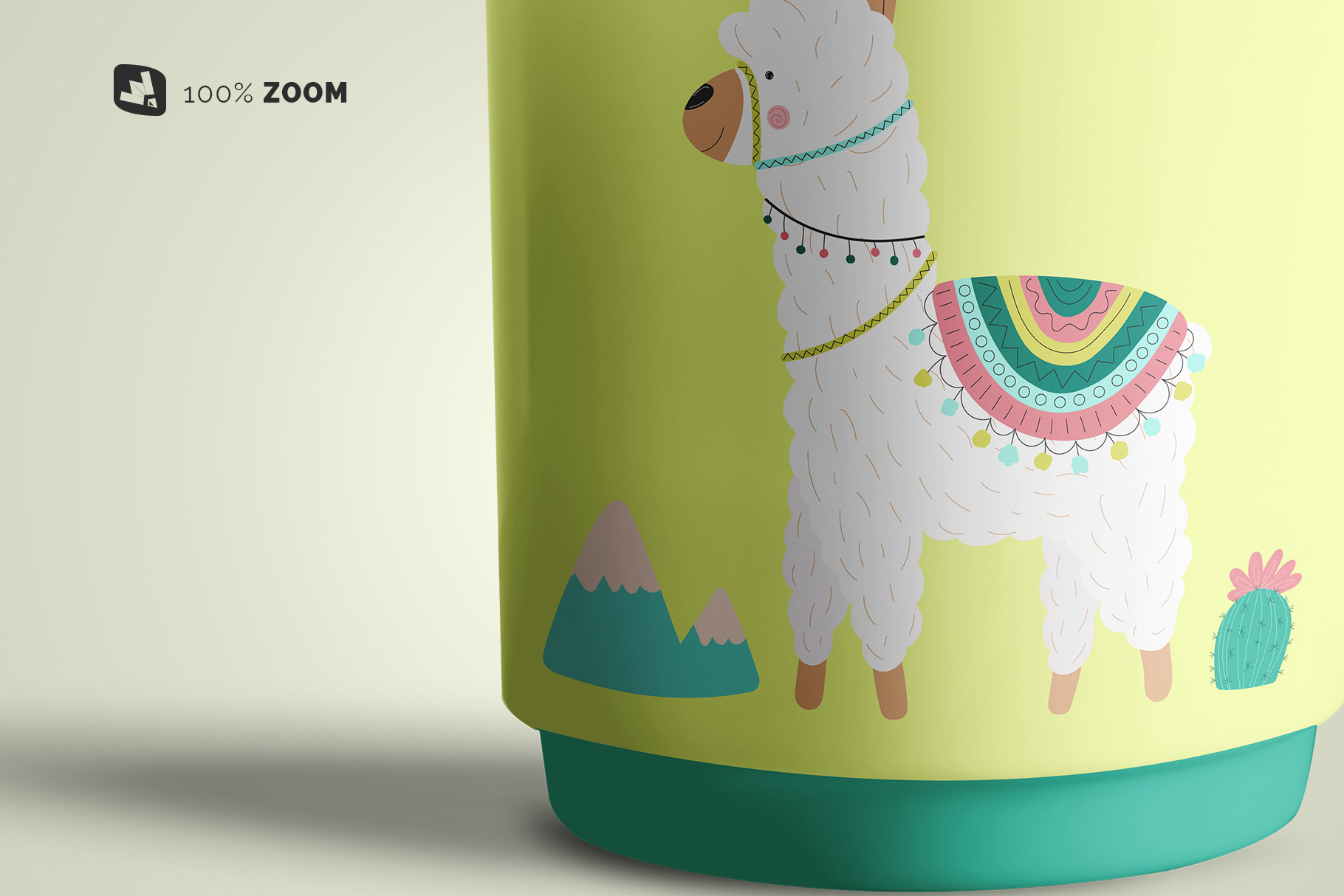 zoomed in image of the porcelain coffee cups set mockup
