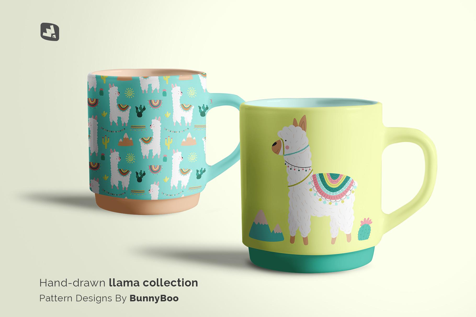 designer's credit of the porcelain coffee cups set mockup