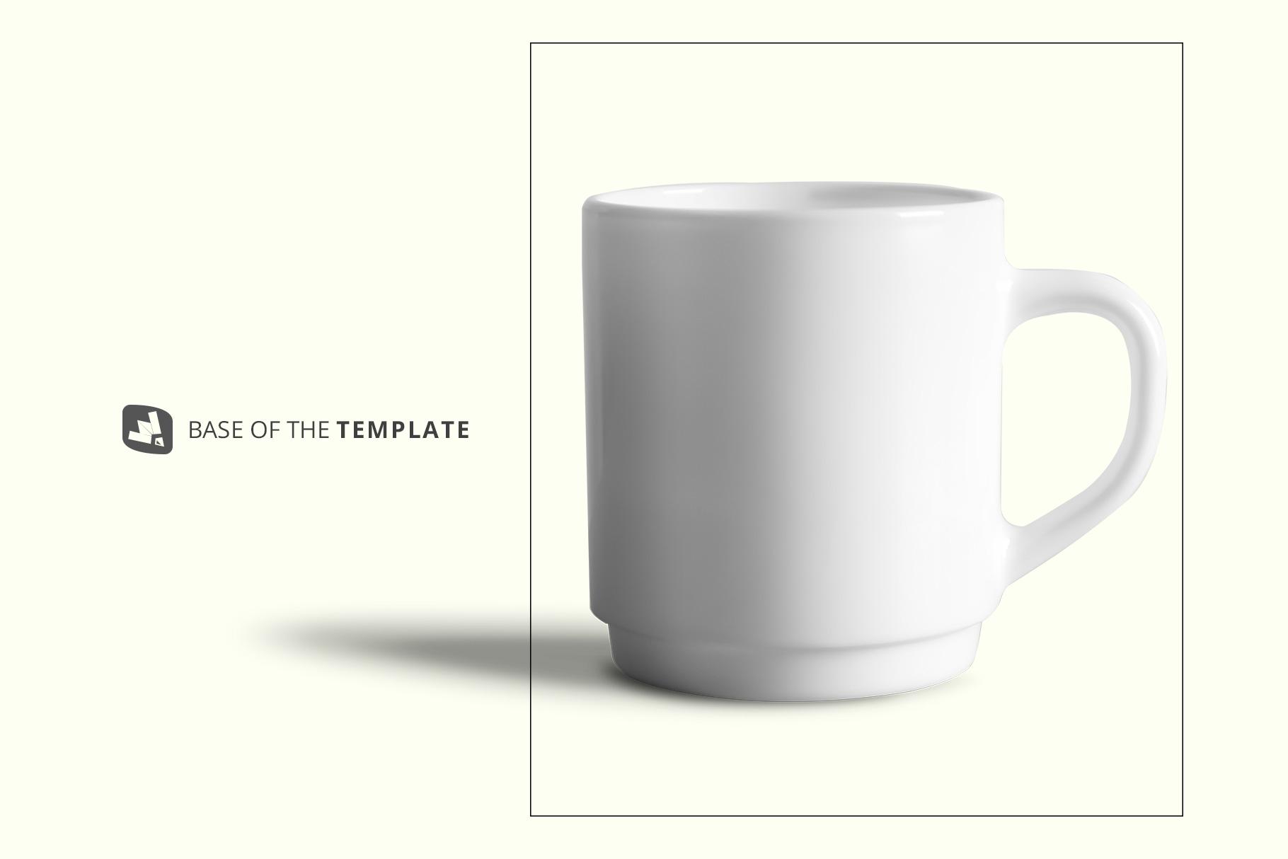 base image of the porcelain coffee cups set mockup