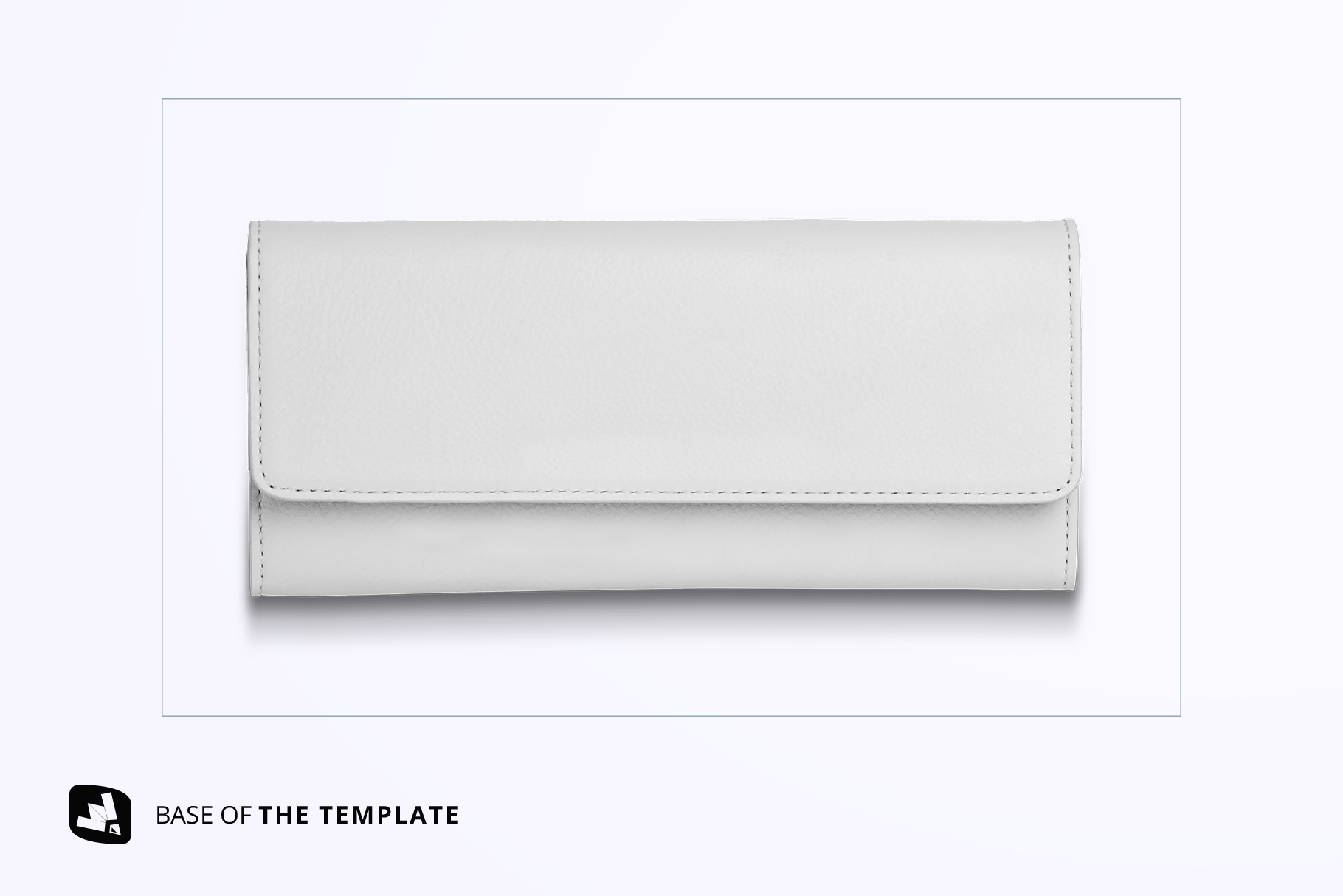 base image of the top view women's purse mockup