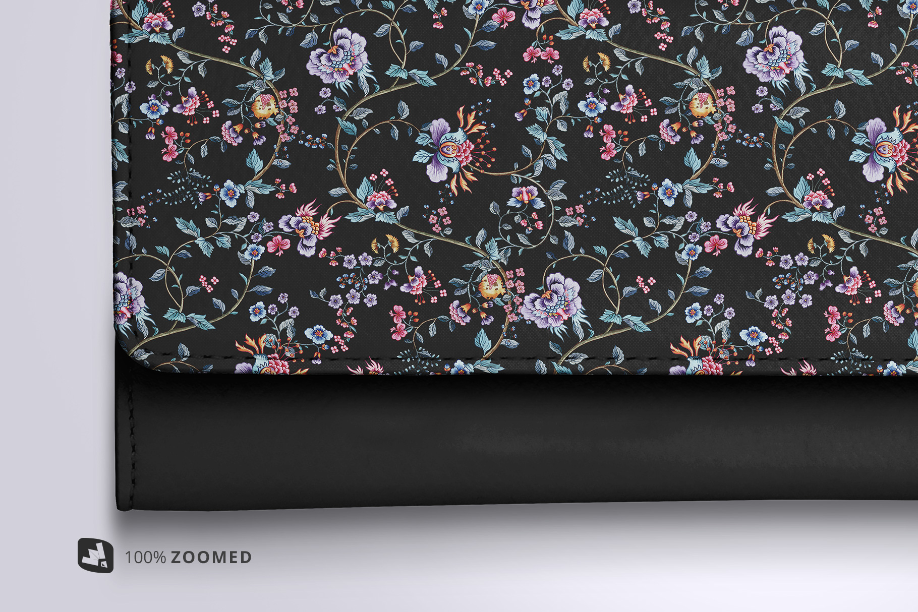zoomed in image of the top view women's purse mockup