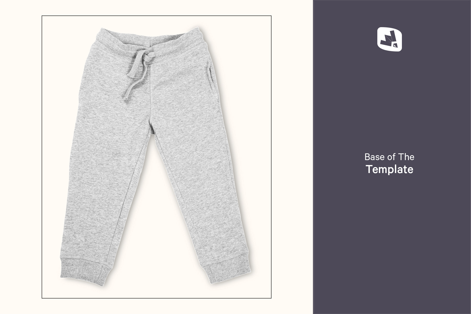 base image of the top view infant track pants mockup