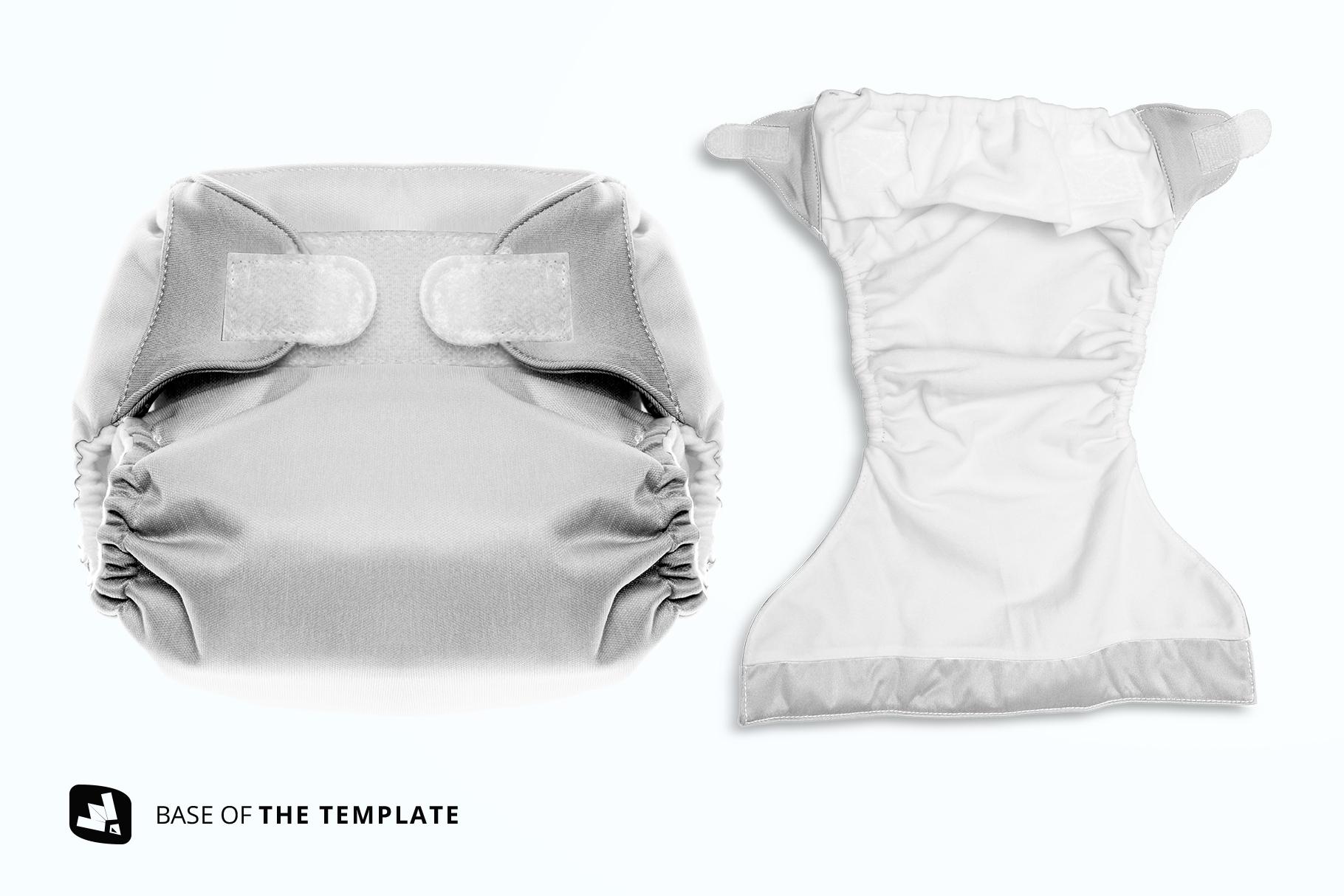 base image of the reusable velcro cloth diaper mockup