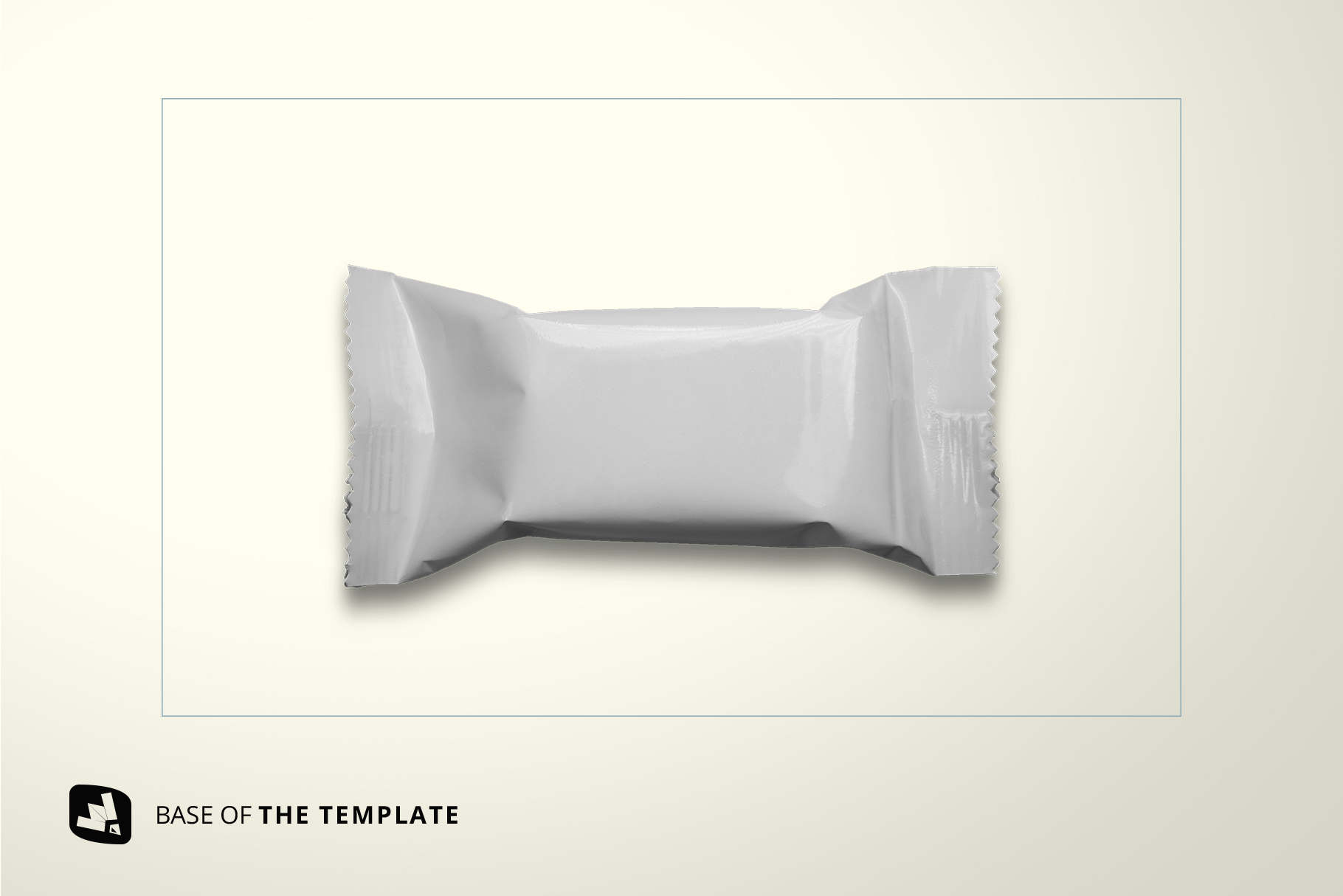 base image of the top view taffy packaging mockup