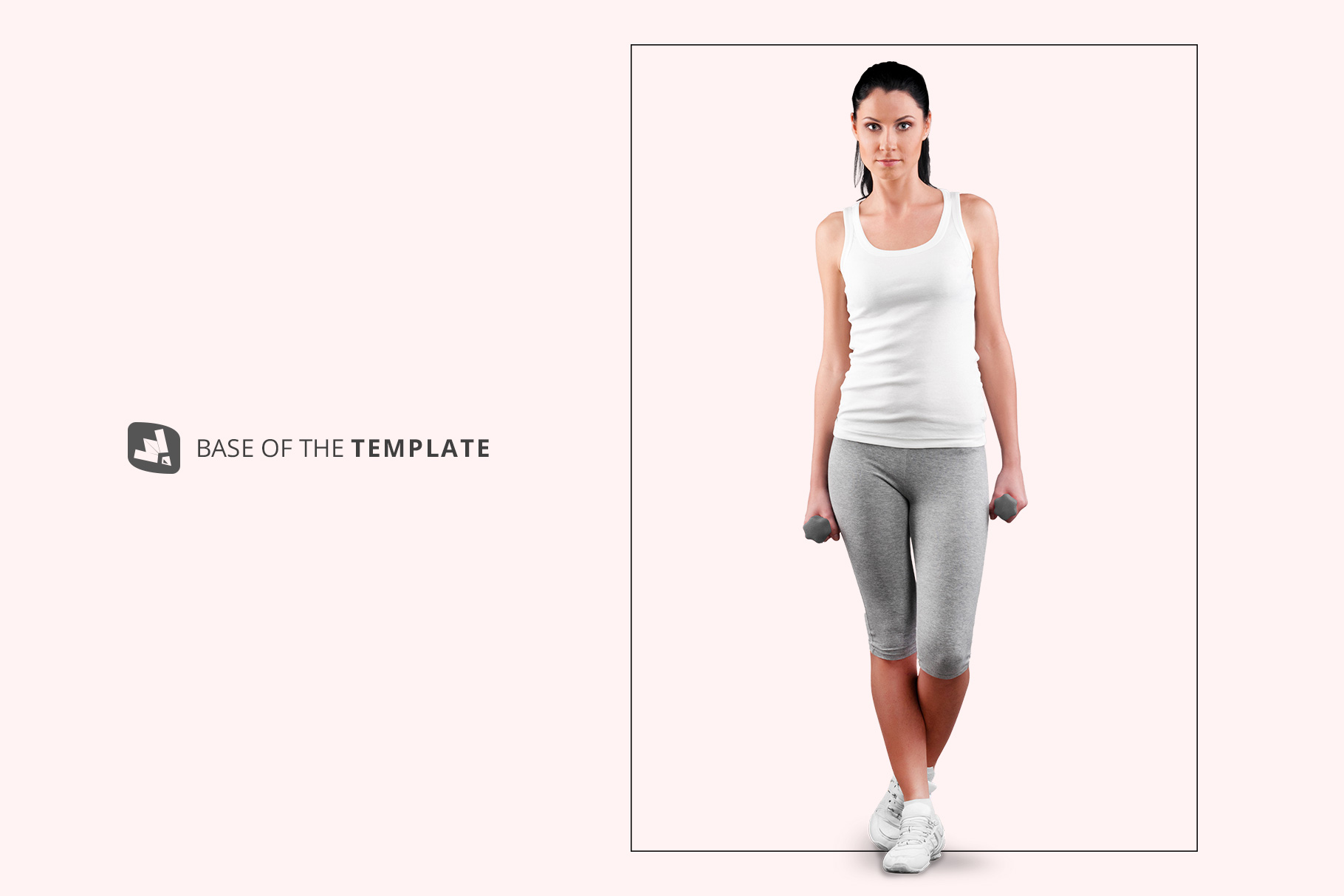 base image of the female sleeveless gym outfit mockup