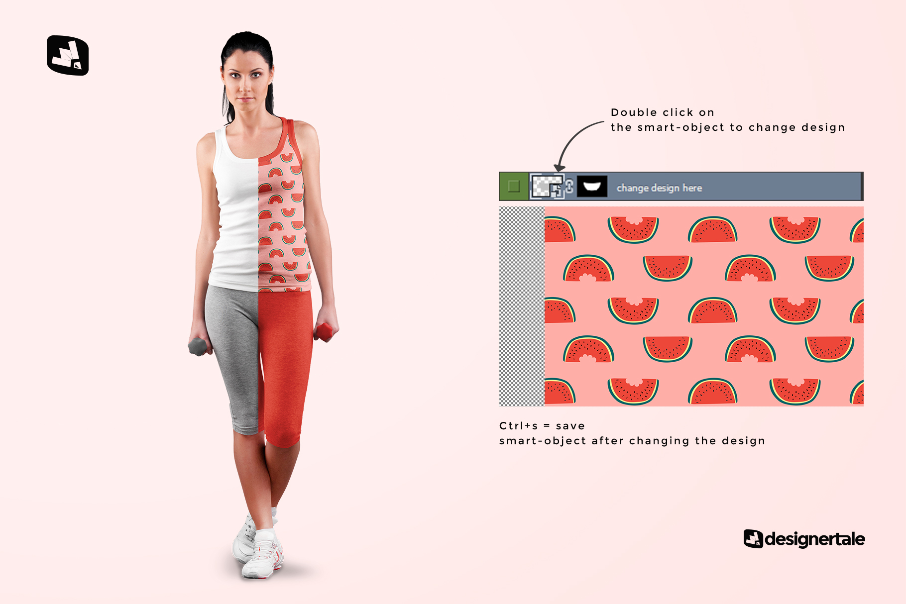 how to change design of the female sleeveless gym outfit mockup