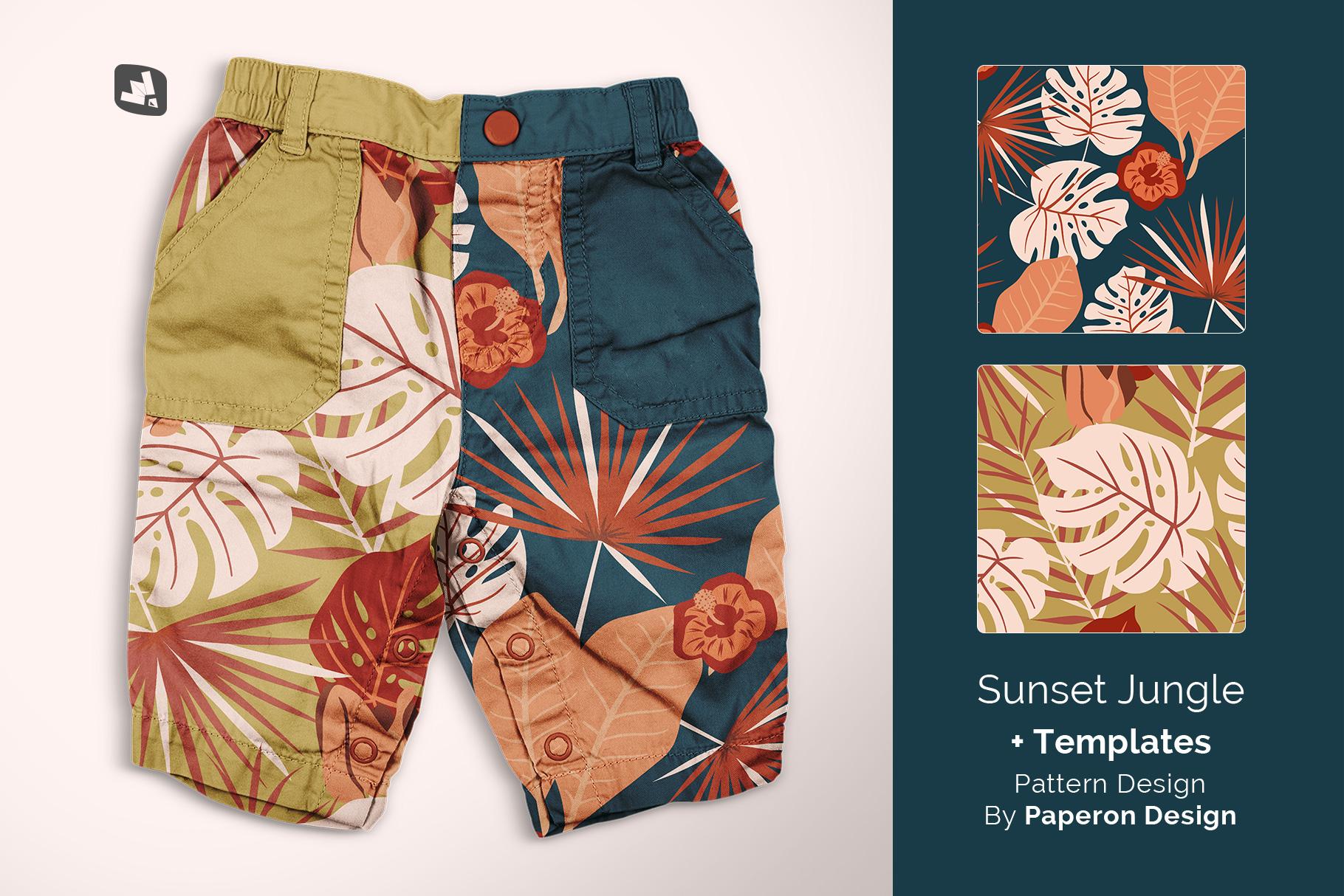 designer's credit of the trendy infant cargo pants mockup