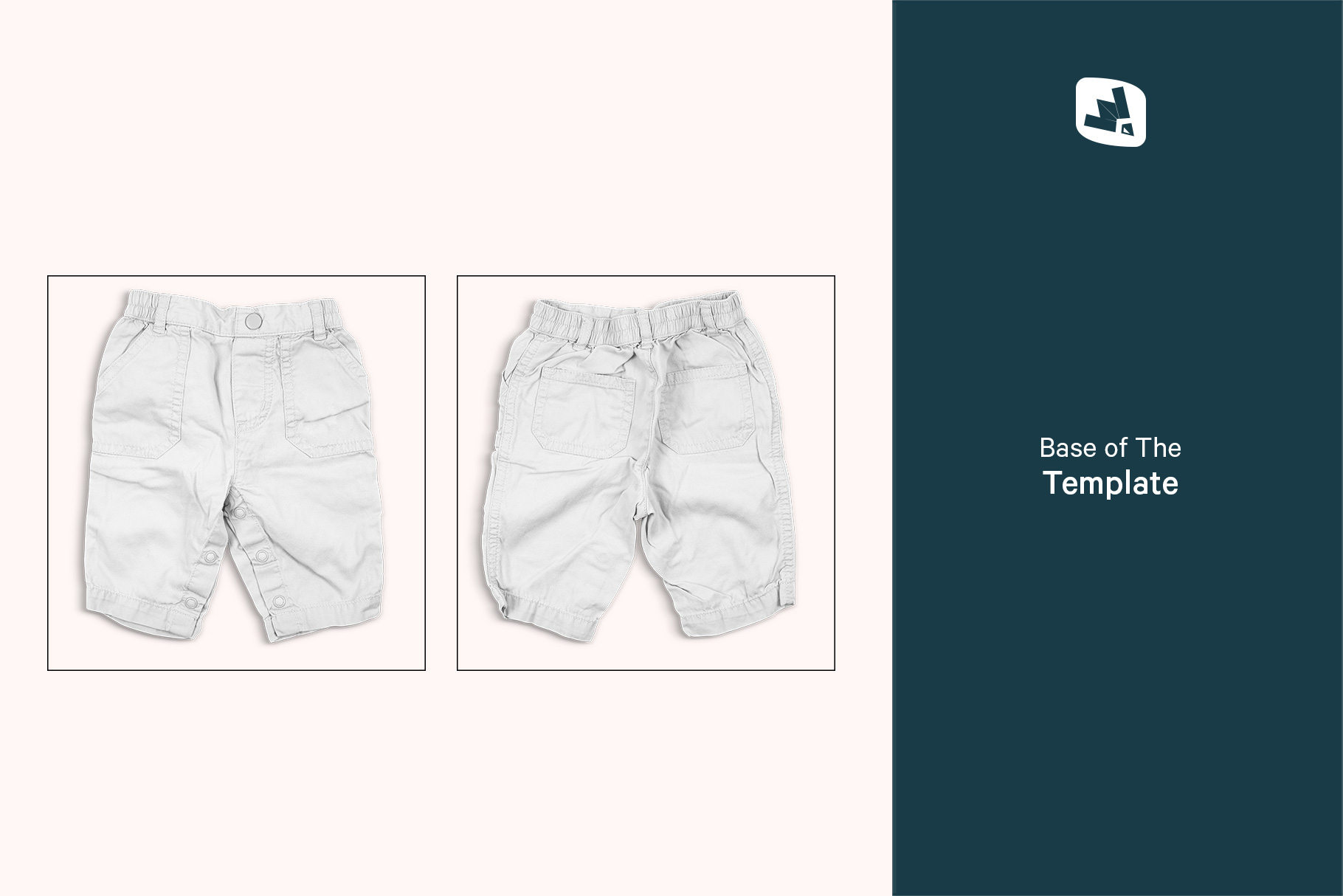 base image of the trendy infant cargo pants mockup