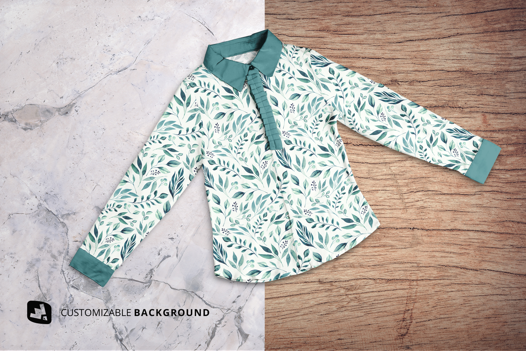 background options of the women's full sleeve blouse mockup