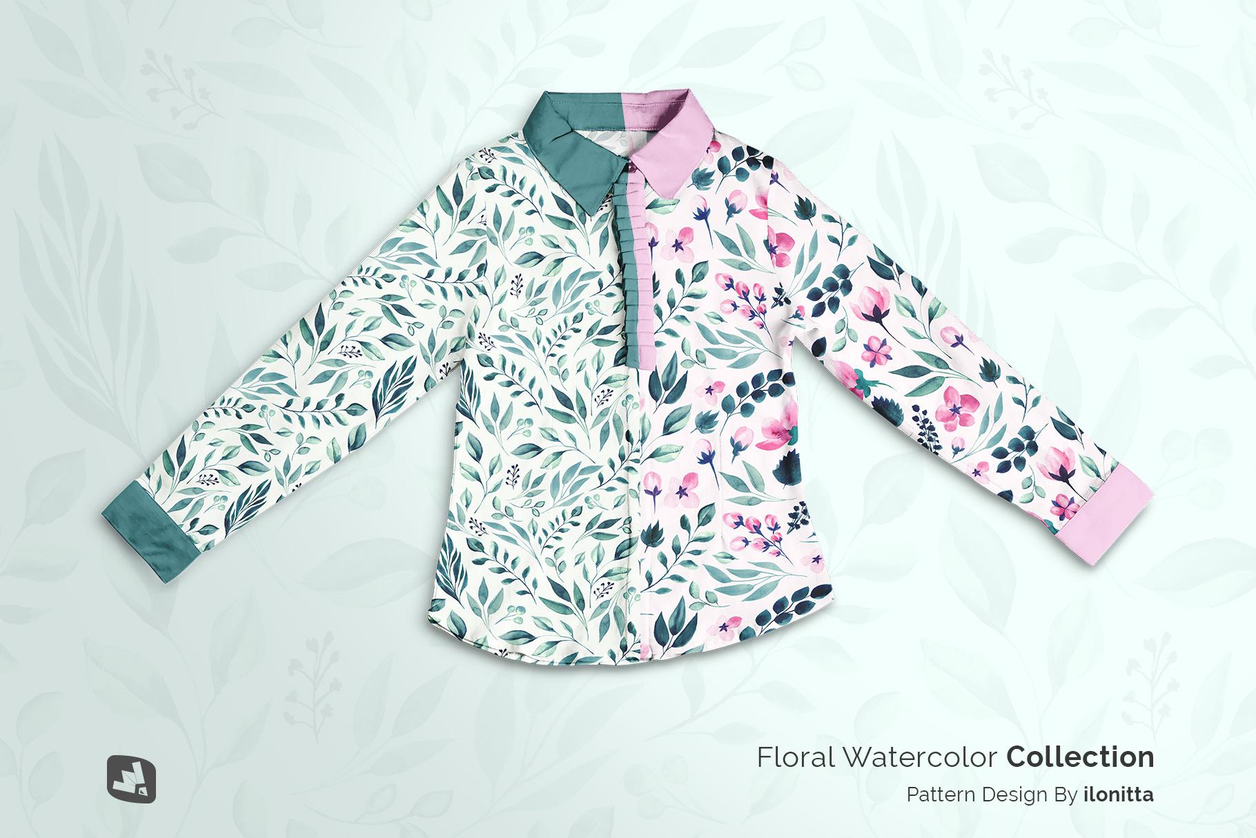 designer's credit of the women's full sleeve blouse mockup
