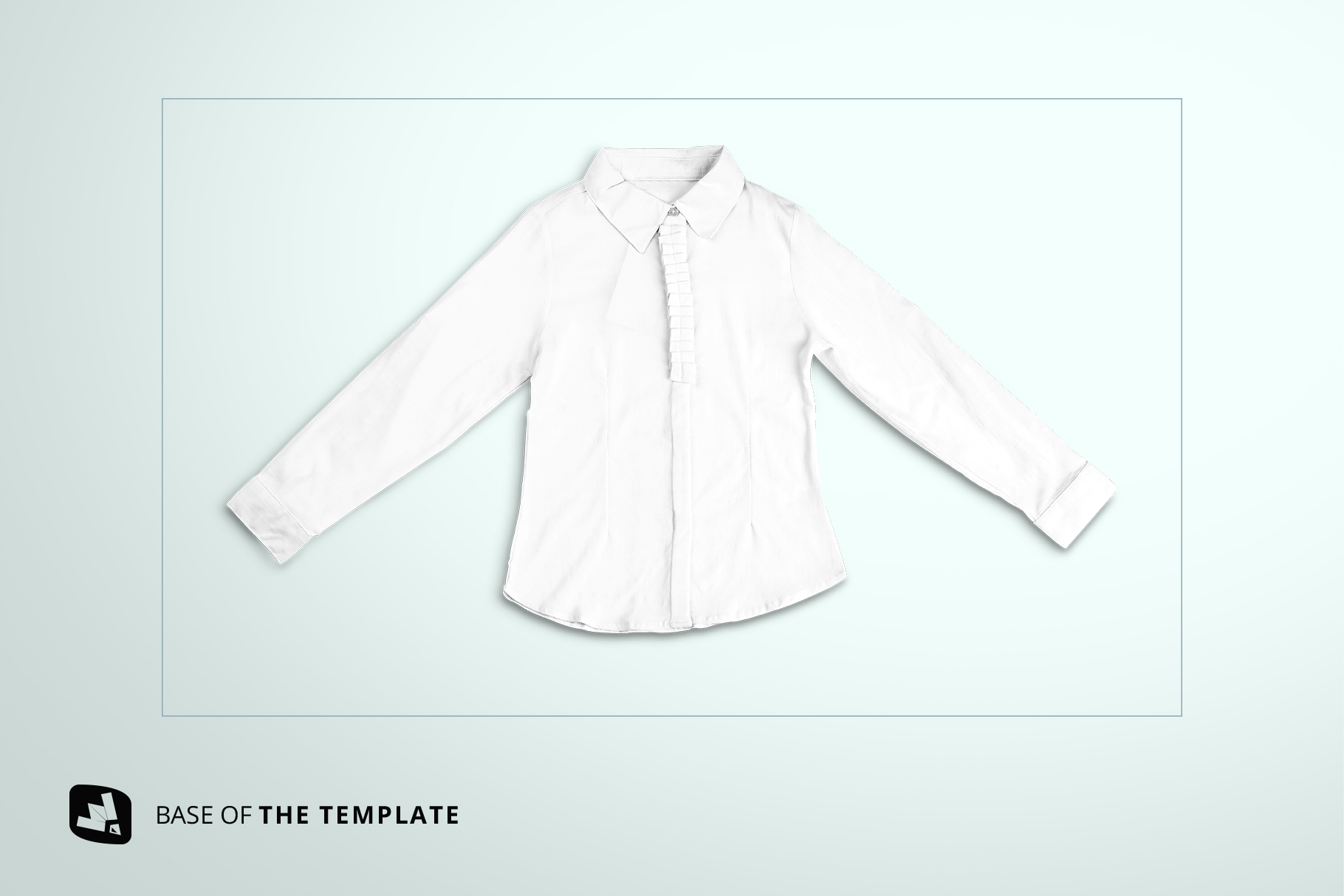 base image of the women's full sleeve blouse mockup