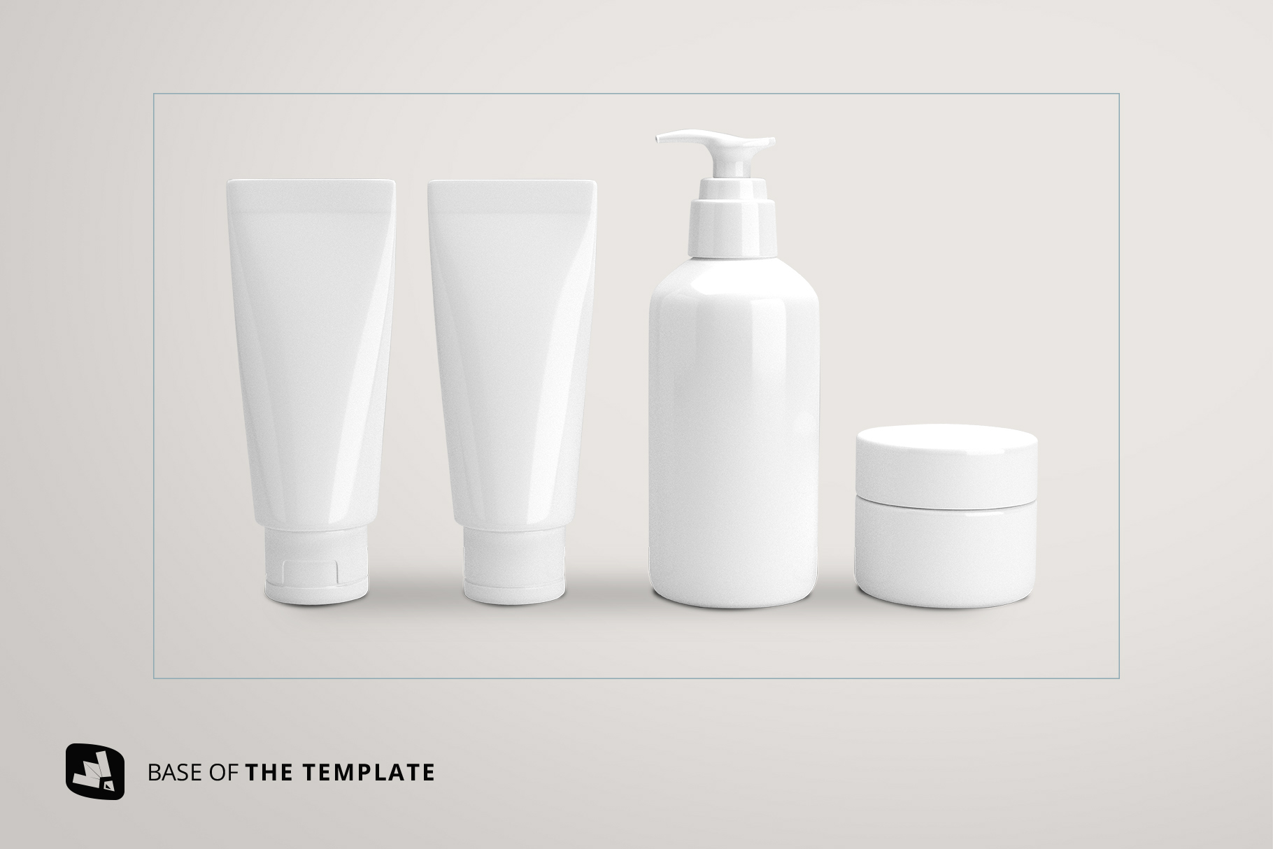 base image of the beauty product packaging set mockup