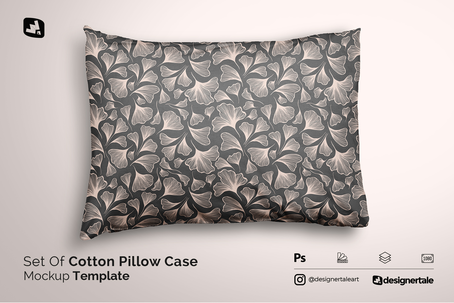 set of cotton pillow case mockup