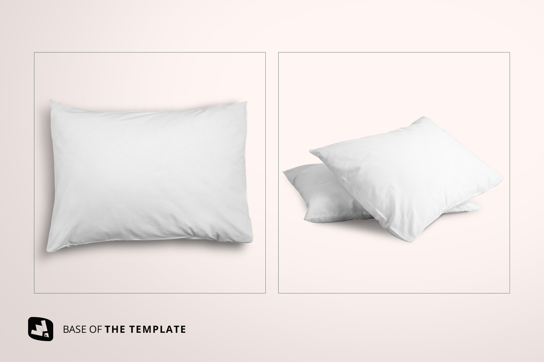 base image of the set of cotton pillow case mockup