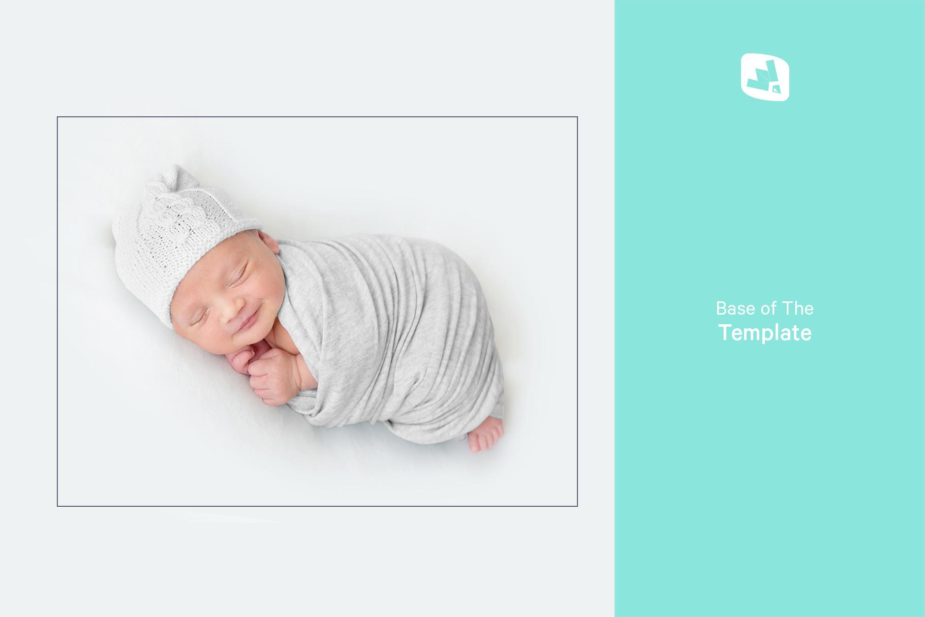 base image of the newborn swaddle blanket mockup