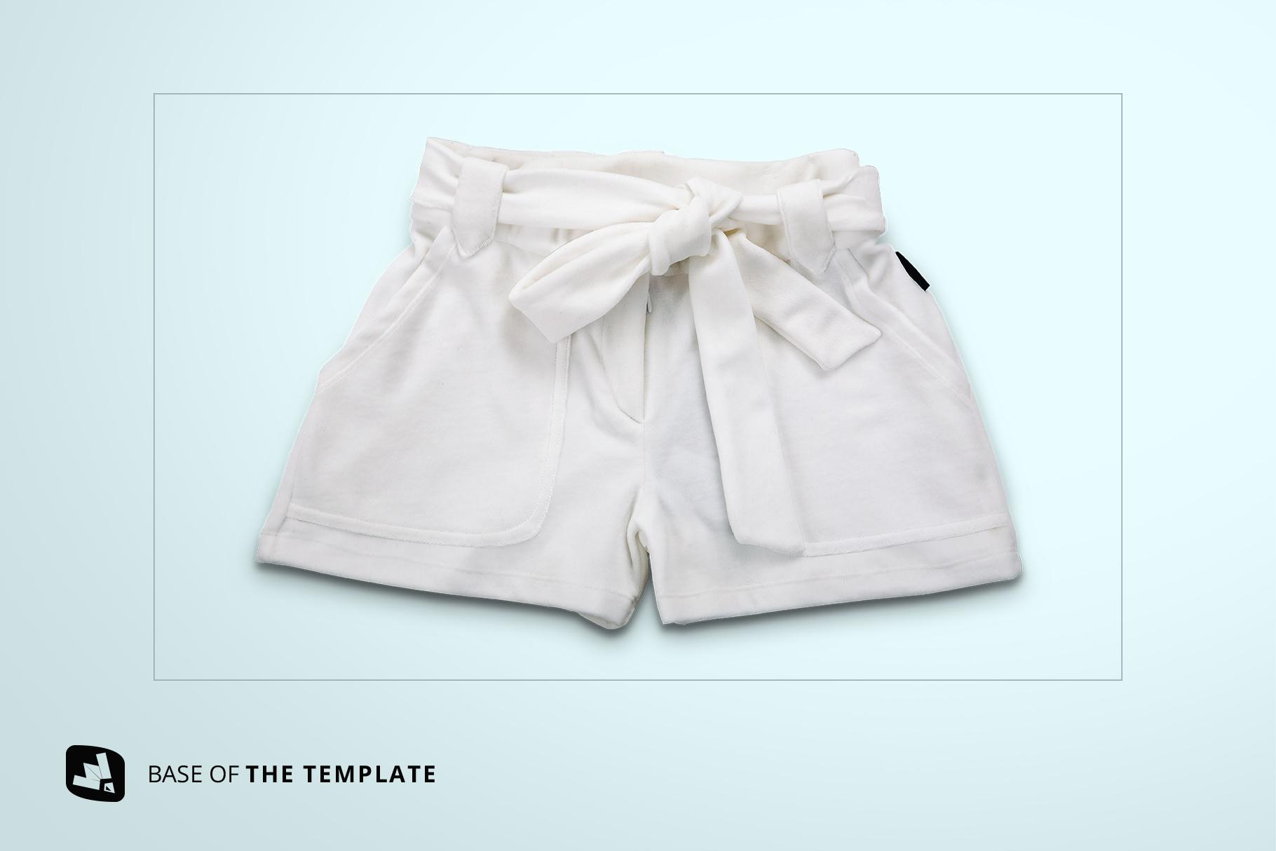 base image of the women's fancy short pants mockup