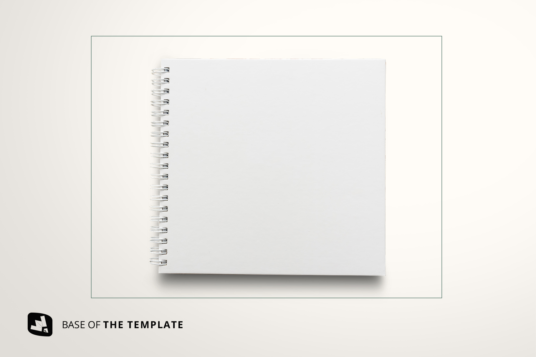 base image of the top view spiral journal cover mockup