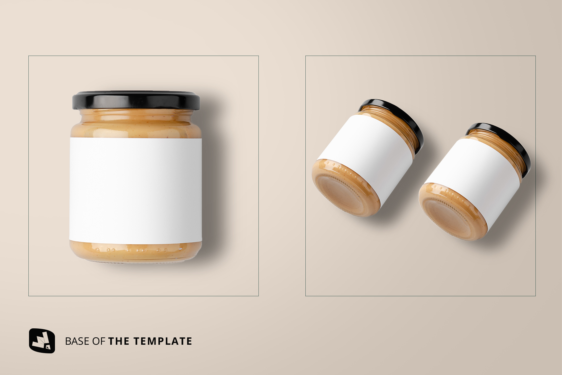 base image of the organic nut butter packaging mockup