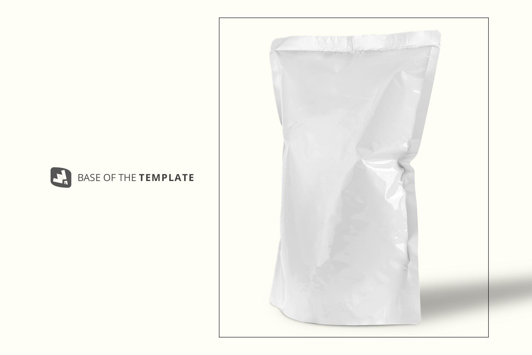base image of the doypack snacks packaging mockup