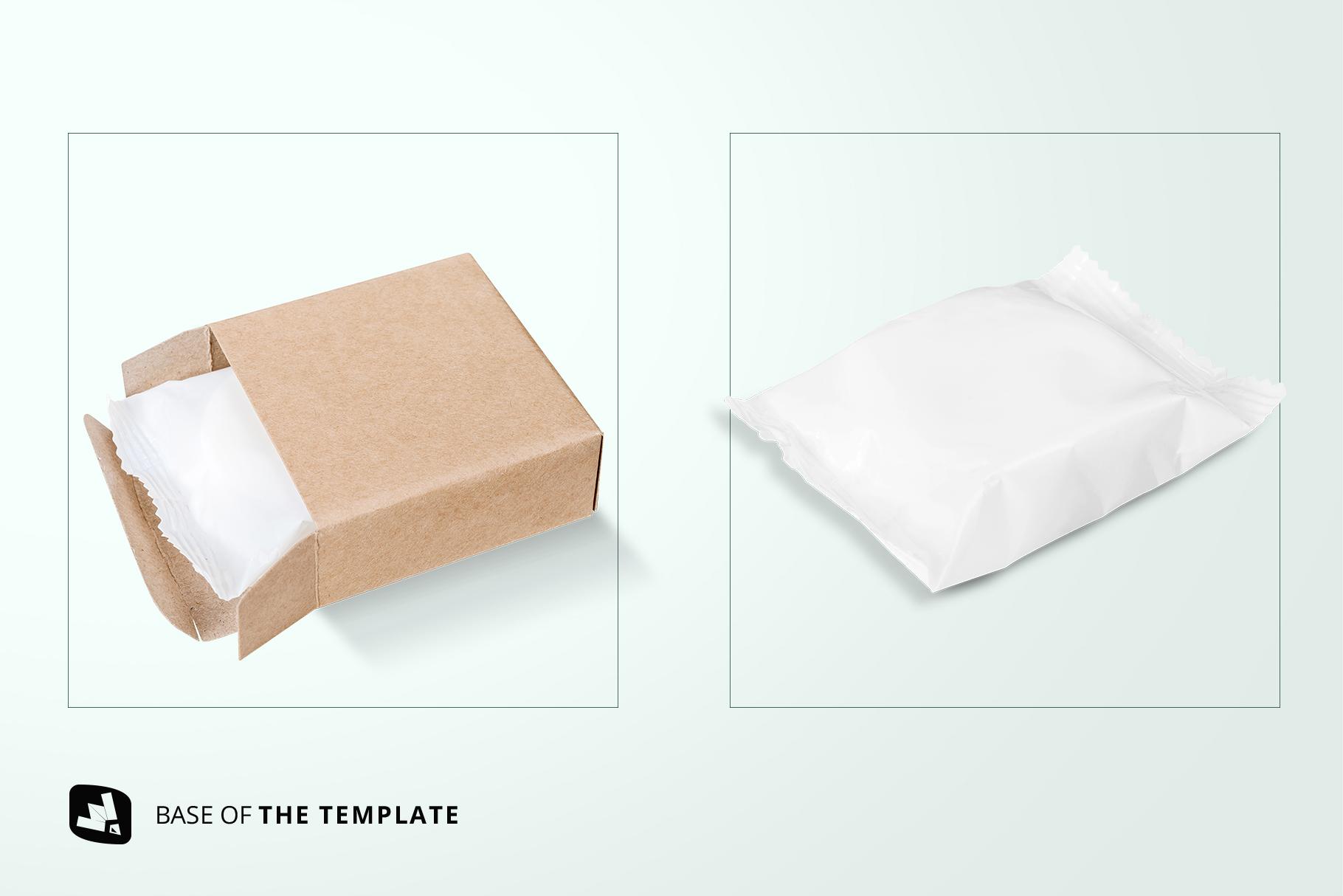 base image of the hand made soap bar packaging mockup