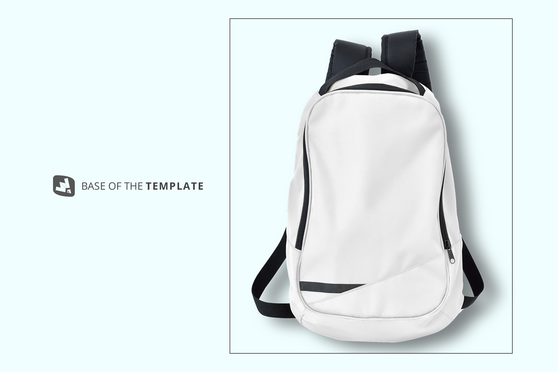 base image of the top view backpack mockup
