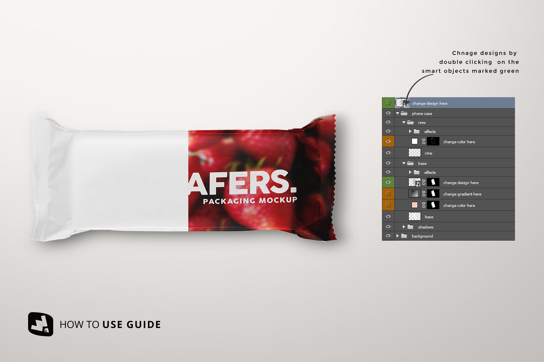 how to change label design of the top view aluminium pack mockup