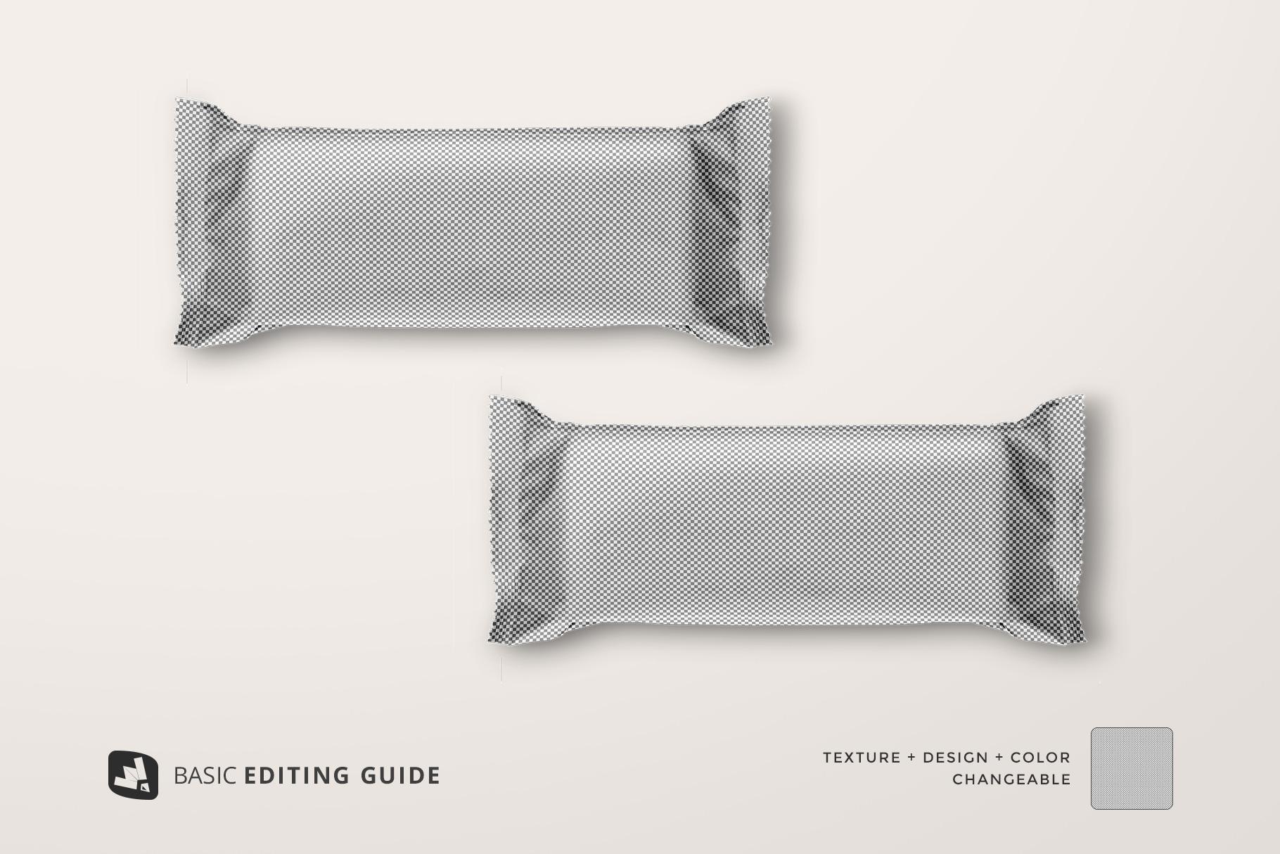 editability of the top view aluminium pack mockup