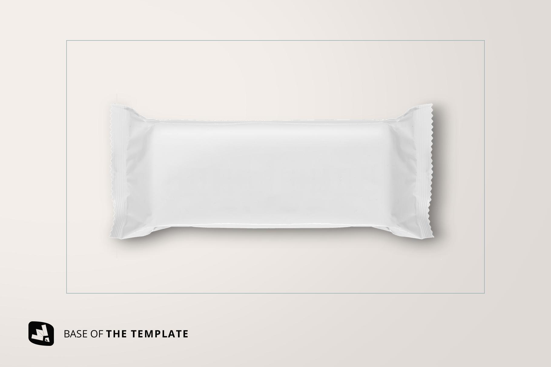 base image of the top view aluminium pack mockup