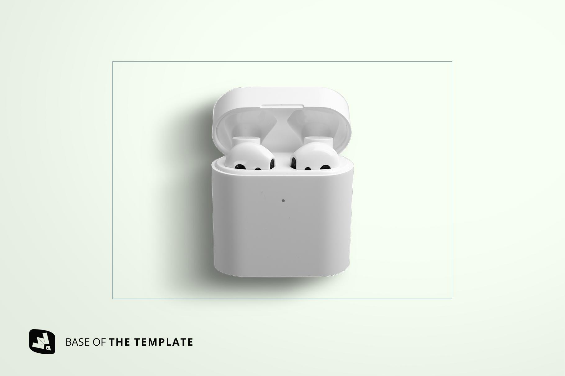 base image of the wireless earphone case mockup