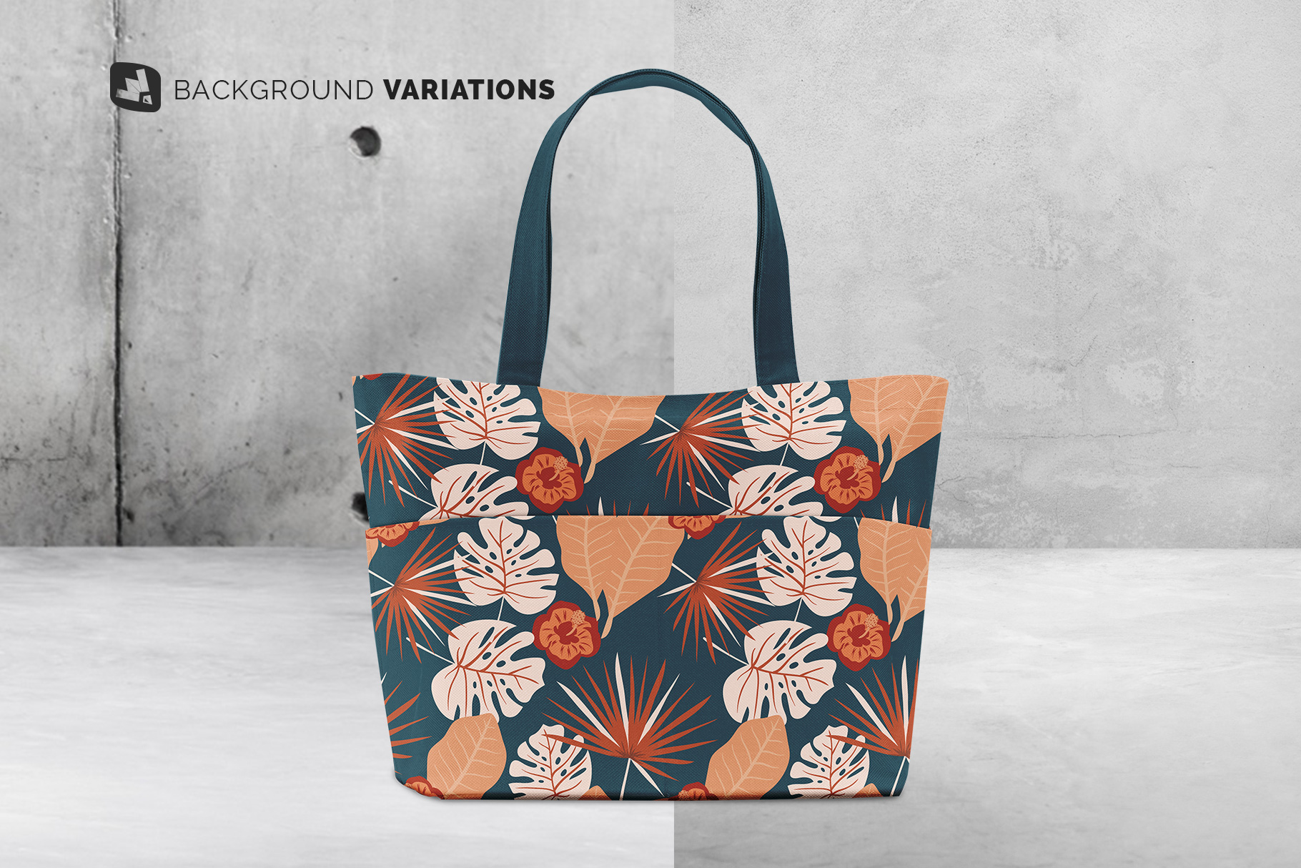 background options of the front view fabric shopping bag mockup