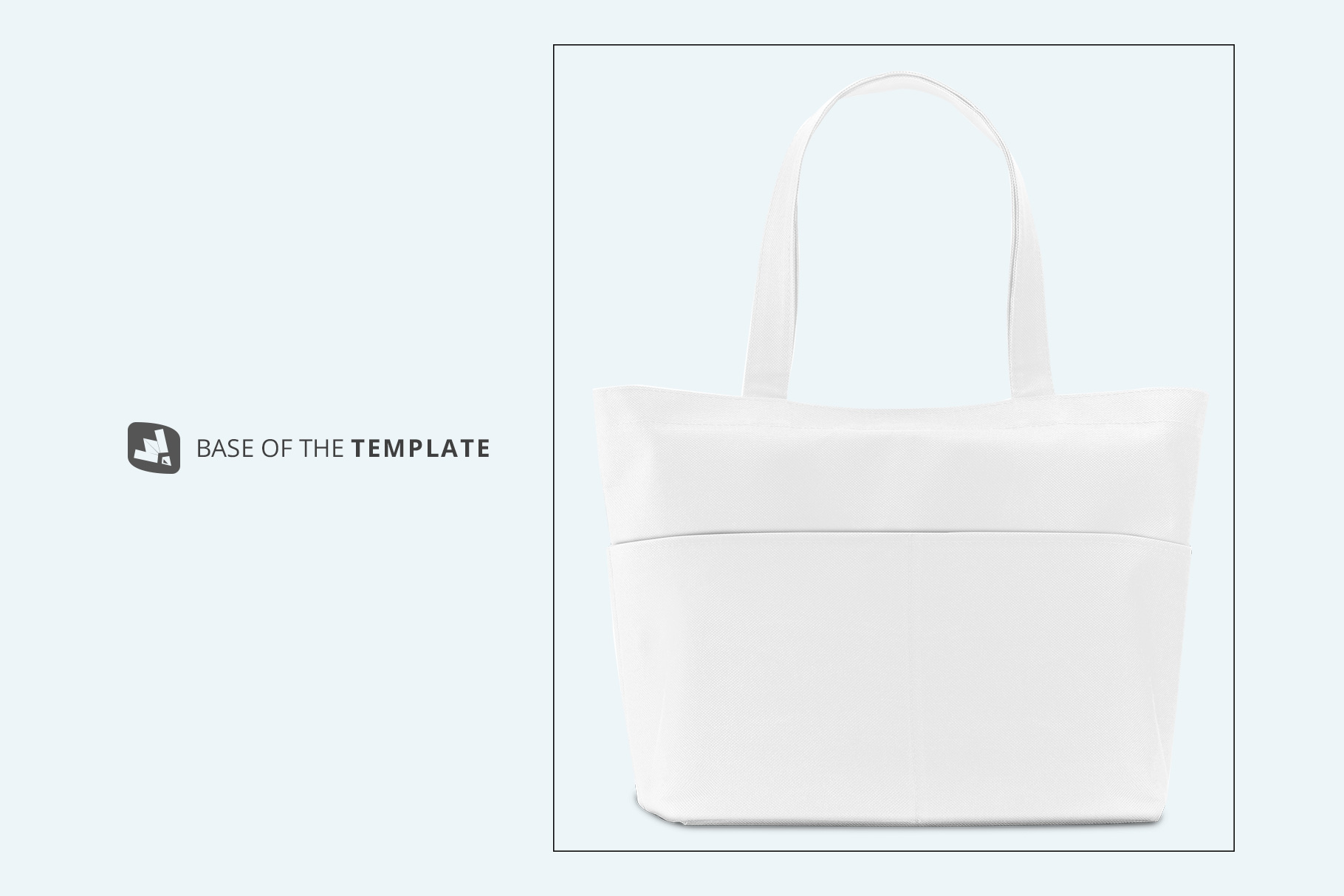 base image of the front view fabric shopping bag mockup
