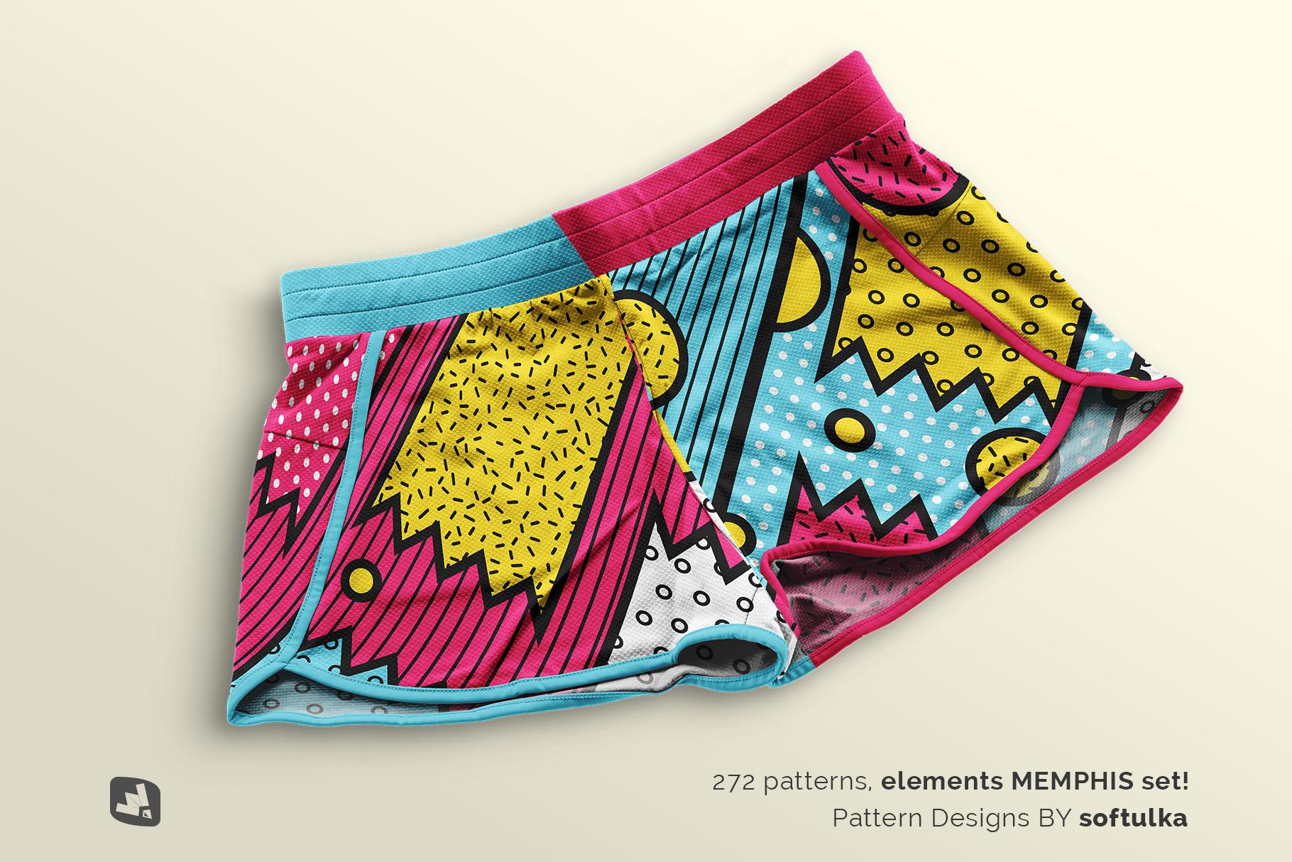 designer's credit of the female sportswear shorts mockup