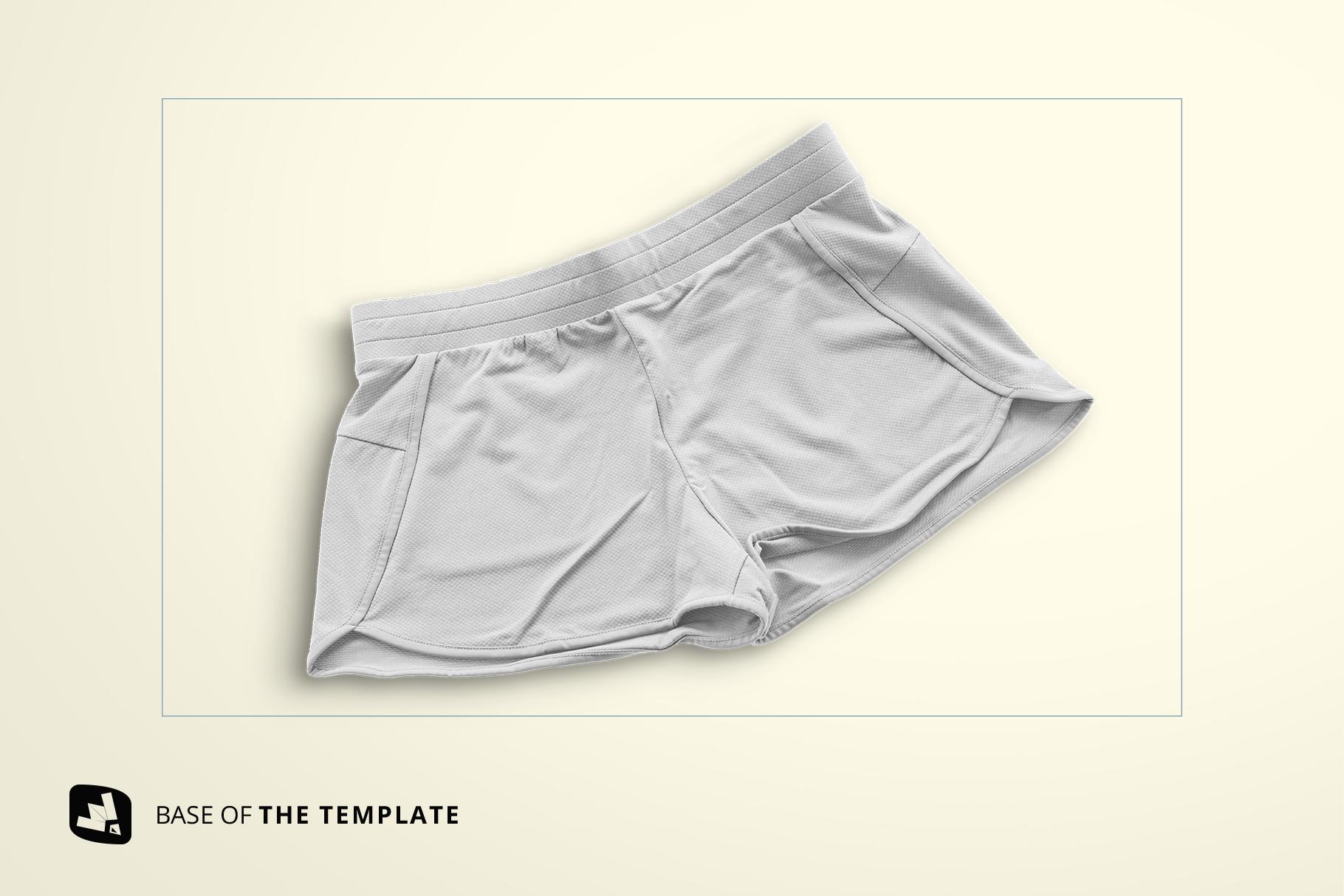 base image of the female sportswear shorts mockup