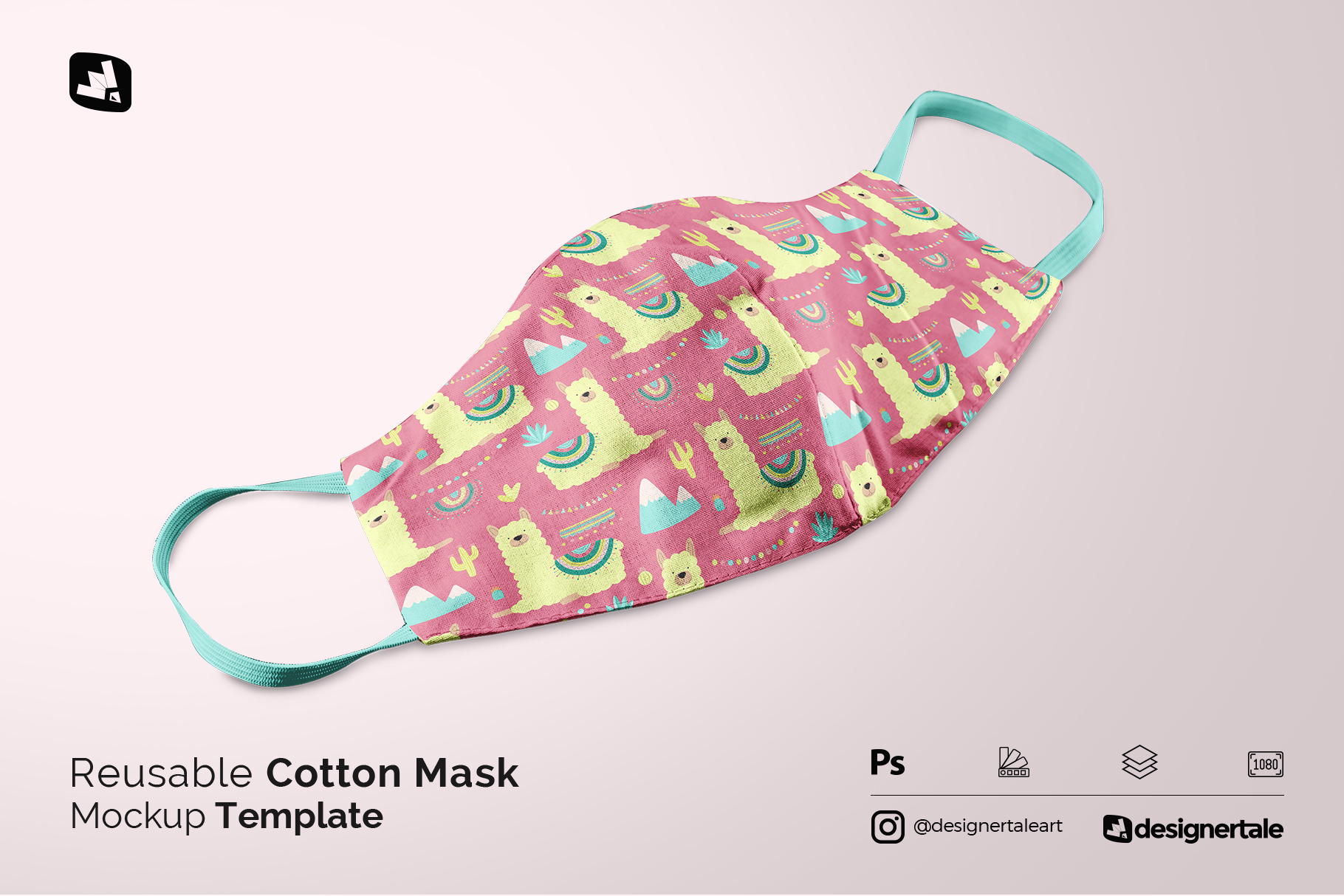 reusable cotton mask mockup