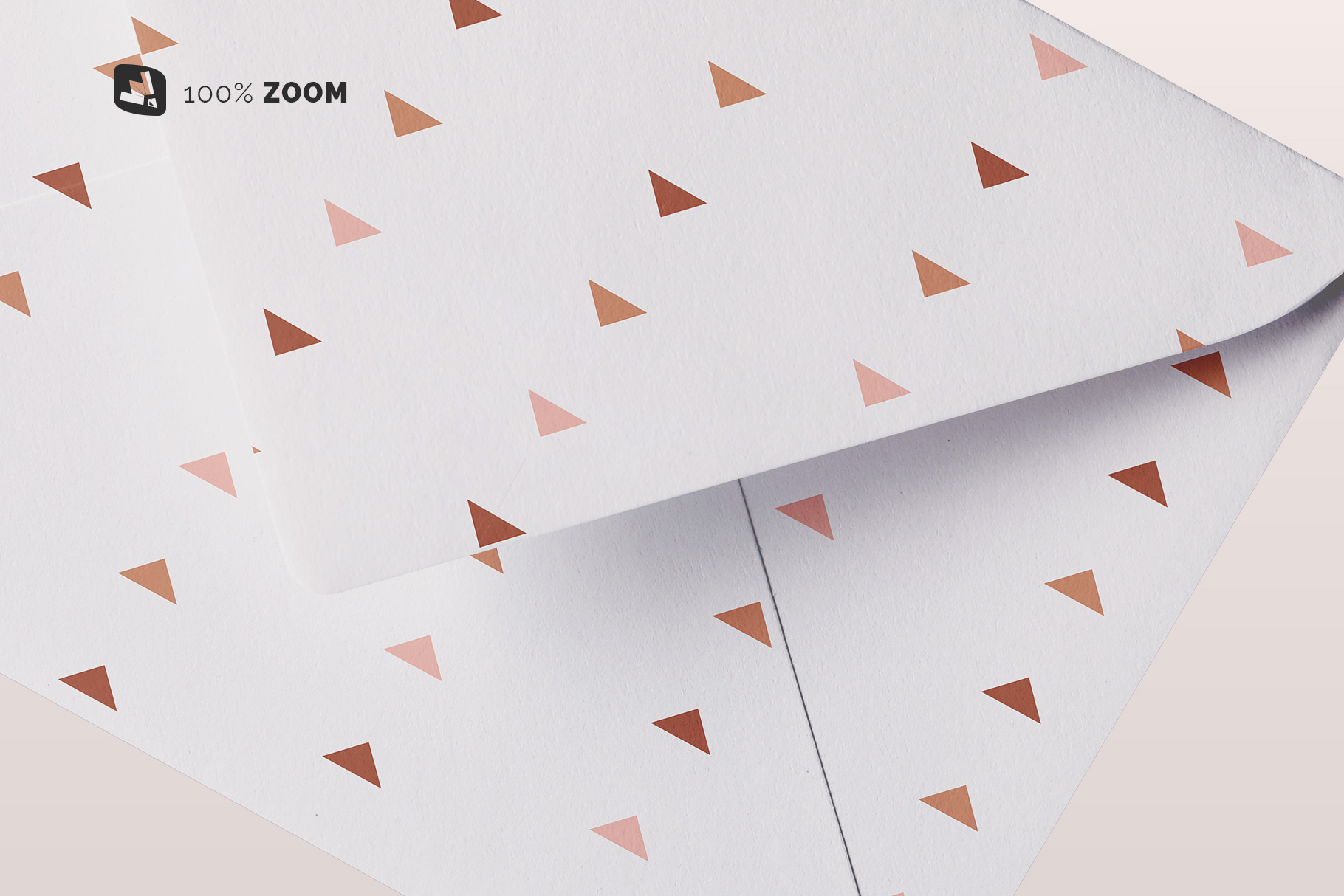 zoomed in image of the rectangular letter envelope mockup