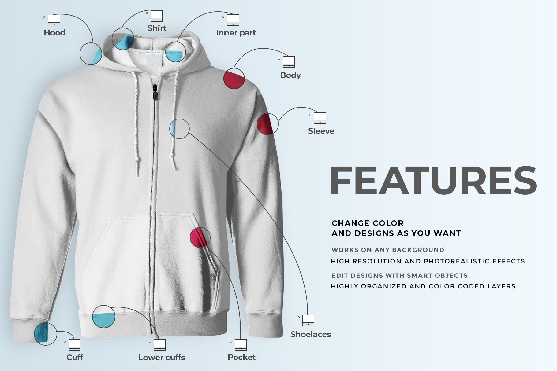 male hoodie sweatshirt mockup image preview 5