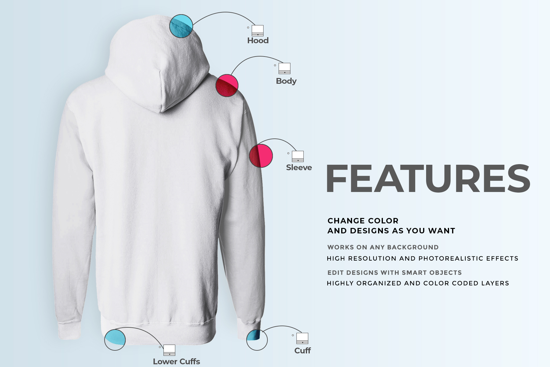 male hoodie sweatshirt mockup image preview 6