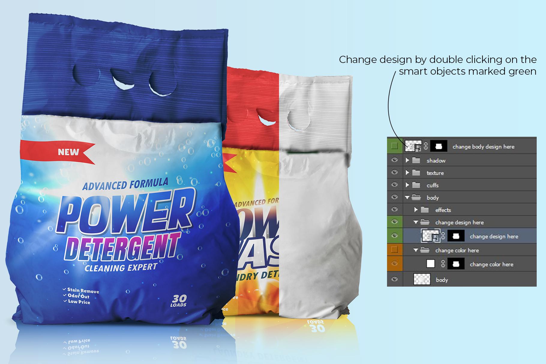 washing powder packaging mockup preview image 2