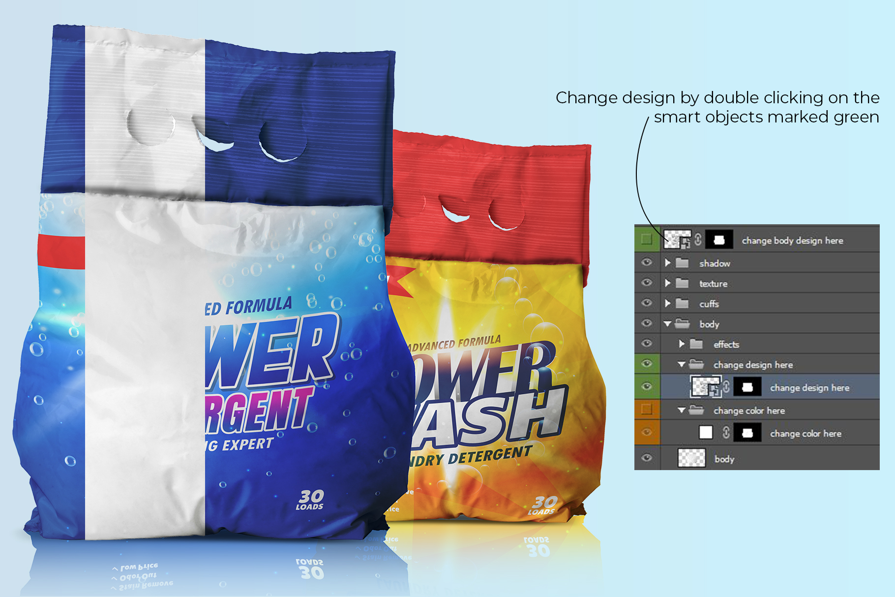 washing powder packaging mockup preview image 3