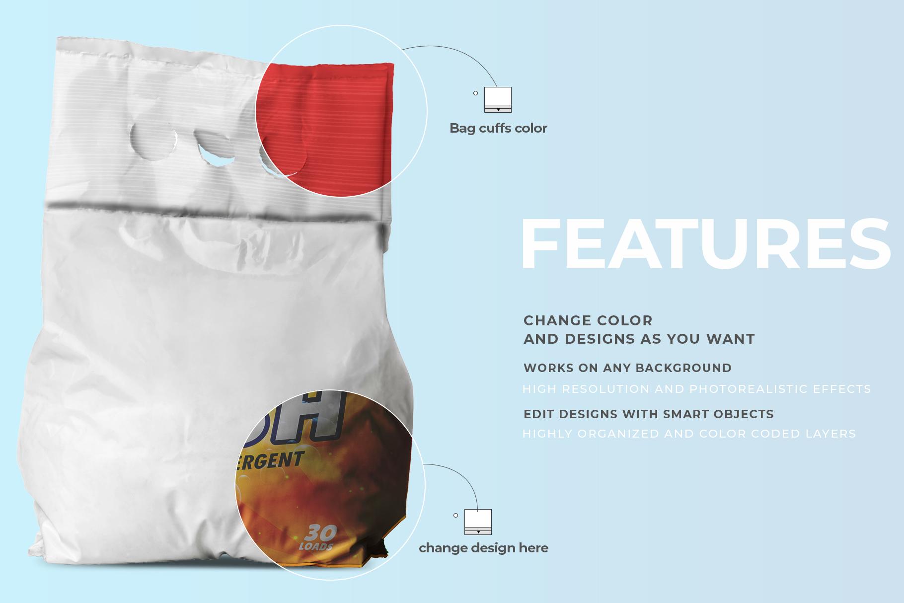 washing powder packaging mockup preview image 4