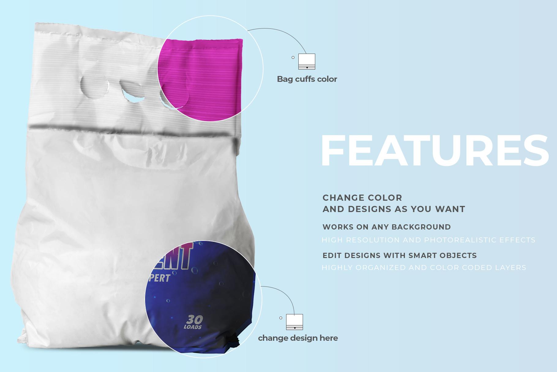 washing powder packaging mockup preview image 5