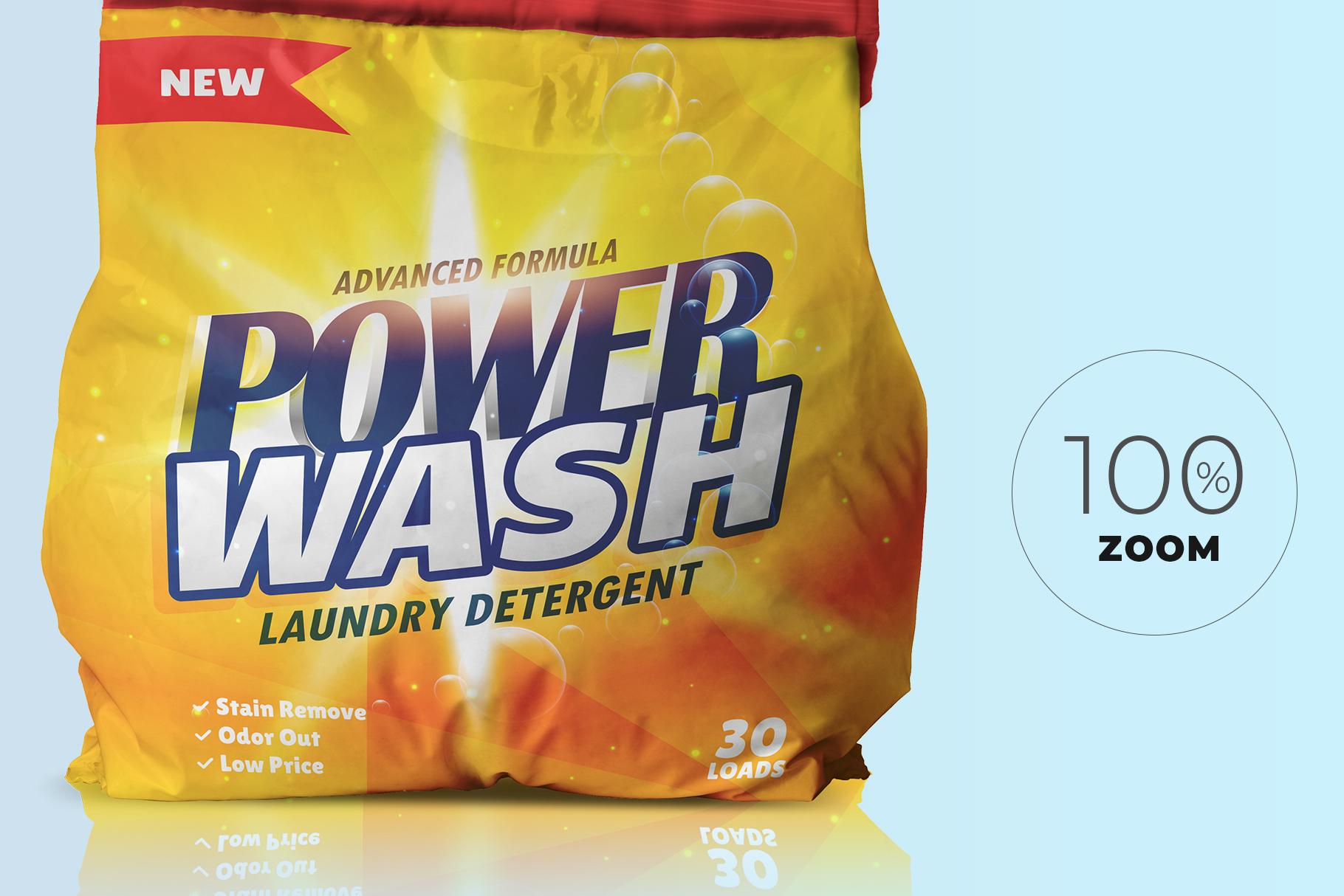washing powder packaging mockup preview image 6