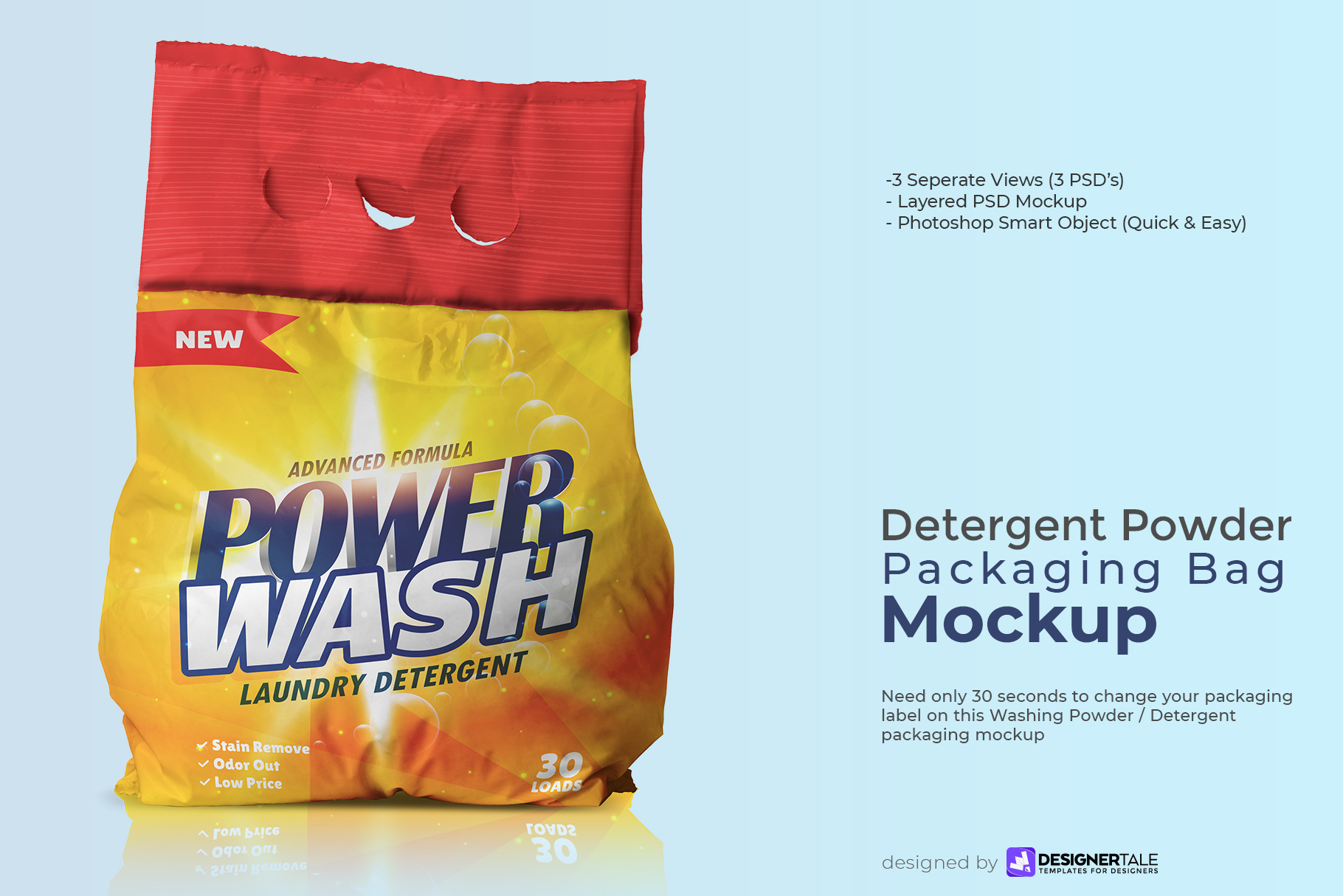washing powder packaging mockup preview image 1