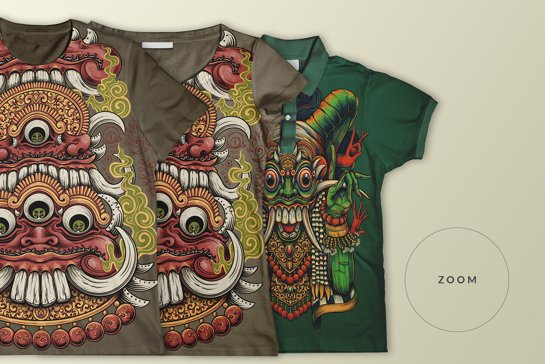 multiple-collar-type-t-shirt-mockup-image-preview-3