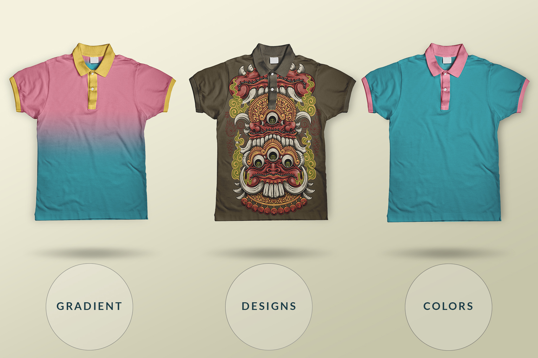 multiple-collar-type-t-shirt-mockup-image-preview-4