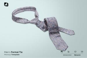 men's formal tie mockup
